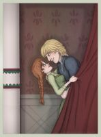 Frozen - Anna and Kristoff - drapes by Loony-Lucy