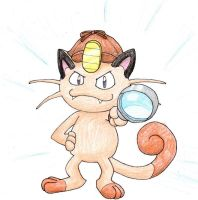 Detective Meowth by MiniDragonfly