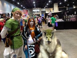 Link, Midna, and Wolf Link by Crowbariswin