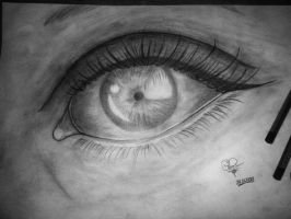 Another eye drawing by Ghos7walker