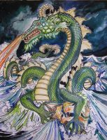Dragon Death and Destruction by HouseofChabrier