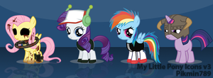 My Little Pony Windows Icons v3 by pikmin789
