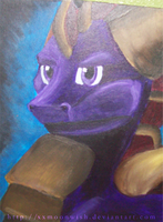 Spyro Painting by xxMoonwish