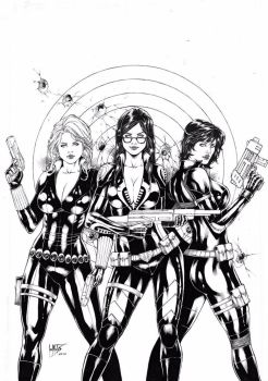 Black Widow Baronees and Domino by Leomatos2014