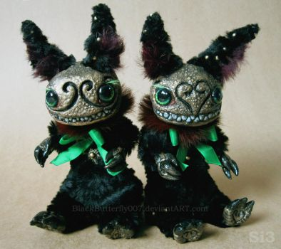 Creeper Bunny Twins by Si3art