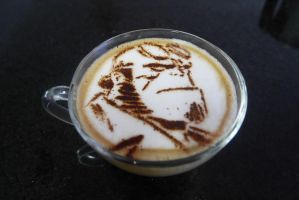 Hellboy - Latte Art by troskx