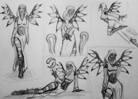 Tali-witch sketches by spaceMAXmarine