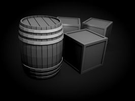 CG Barrel and Boxes by LDS-Jedi