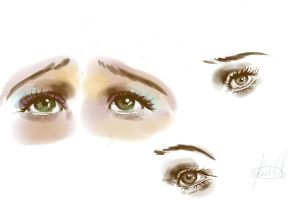 Eyes - Sketch 1 by KeiraHarcourt