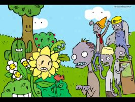 Plant vs Zombies -wallpaper by Pet-shop