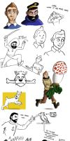 Blistering barnacles, here's some Tintin practice by Calick