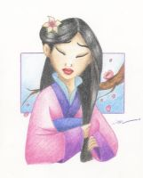 Mulan - Like a late blossom by Rainbubbles1011