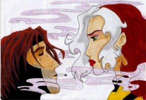 Rogue and Gambit by Windego