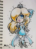 Rosalina and Magnolia Dress chibi traditional by JamilSC11