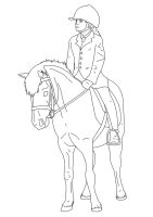 Horse and rider lines 02 by EquineRibbon