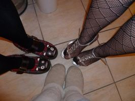 The Knacker, Goth and Whore by bernetwolfamber1
