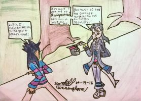 Xedonills meets Lupin for the first time by Dell-AD-productions