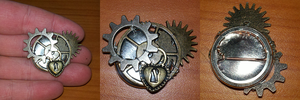 Steampunk Button by InfinityFangX