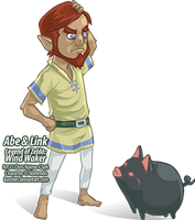 - Abe and Link - Wind Waker - by kurobei