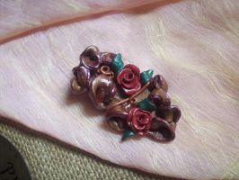 Sparkling Polymer Clay Brooch by ChrisOnly