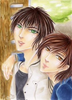 Siblings Project: Yuuta and Tao by Khallandra