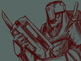 Soldier doodle by bloodtrailkiller