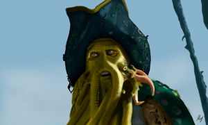 Pirate Of The Caribbean - Davy Jones by WeaponX-Art