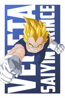 Vegeta Vector PREVIEW by TattyDesigns