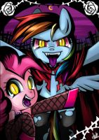 Vampire Dash and Pinkie by basakdash