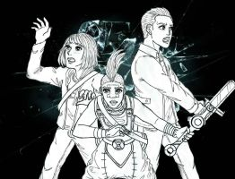 Time Travelers of 2015-16: lineart by uber-neko