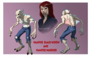 AA: VAMPIRE BLACK WIDOW and VAMPIRE WARRIORS by Jerome-K-Moore