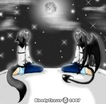 Twins under the moon by BloodyChaser