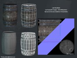 Low Poly Barrel by MrNinjutsu