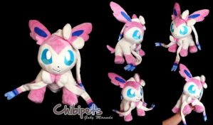 Sylveon Custom Plush by Chibi-pets
