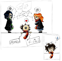 Snape-Lily and... JamesTHI by Lusionelle