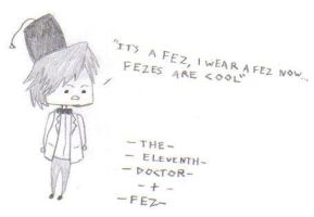 Chibi 11th Doctor + Fez by TommEdge4Life