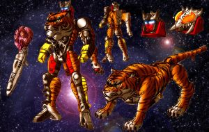 Beast Wars Cattilla with BG by LiamShalloo