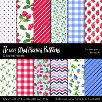 Flowers And Berries Patterns by MysticEmma