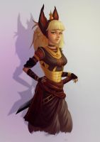 Chione, Kingsguard of the Queen Jackal by rafaarsen