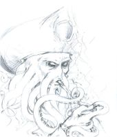Davy Jones - pencil by yumegari