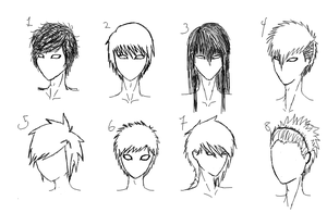 male hairstyles by samtard