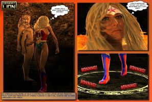 Ultra Woman in The Labrynth - Stone Gauntlet Pg 5 by DesertLion3D