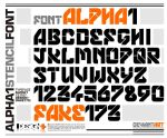 ALPHA 1 FONT by fake173