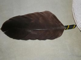 Brown Eagle Feather by SkyeTrinity