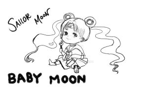 Moon1---Uncolored by XxDyRexX