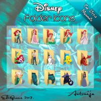 Disney Folder Icons - The Little Mermaid by EditQeens