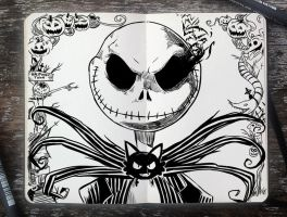#271 Jack Skellington by 365-DaysOfDoodles