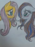 FLUTTERSHY AND FAWN by htf-big-cat
