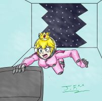 Space suit Peach peril (Request) by NekoEmerald