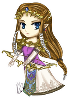 Chibi Zelda Twilight Princess by leziith